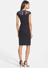 Cynthia Steffe Lace Yoke Sheath Dress