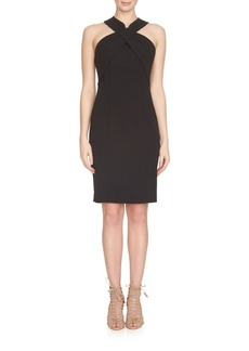 Cynthia Steffe Leyla Cross Neck Sheath Dress
