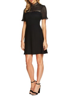 Cynthia Steffe Lillian Short-Sleeve Lace Fit-And-Flare Dress