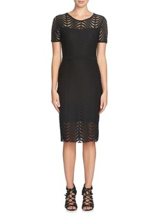 Cynthia Steffe Lily Open Wave Knit Midi Dress