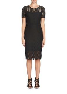 Cynthia Steffe Lily Open Wave Knit Midi Dress