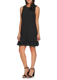 Cynthia Steffe Macara Sleeveless Ruffle-Hem Dress