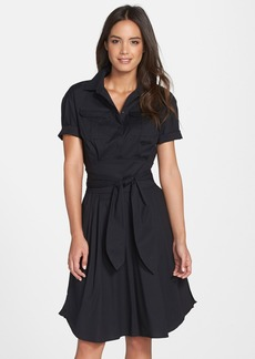 Cynthia Steffe 'Maya' Belted Poplin Fit & Flare Shirtdress (Nordstrom Exclusive)