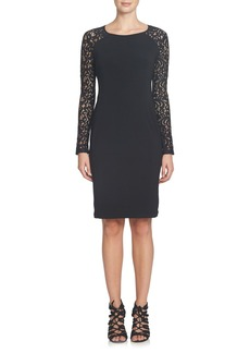 Cynthia Steffe Michaela Lace & Jersey Sheath Dress