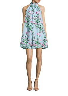 Cynthia Steffe Monte Floral Halterneck Dress