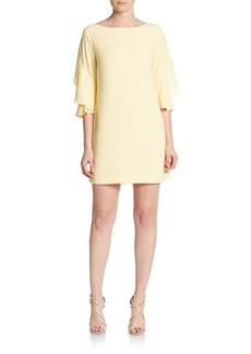 Cynthia Steffe Nicola Flutter-Sleeve Shift Dress