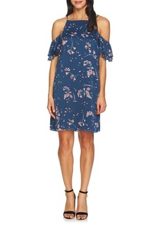 Cynthia Steffe Nika Cold-Shoulder Floral Shift Dress