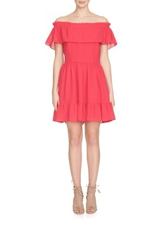 Cynthia Steffe Off-The-Shoulder Ruffle Dress