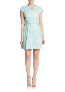 Cynthia Steffe Piper Short-Sleeve Box-Pleat Dress