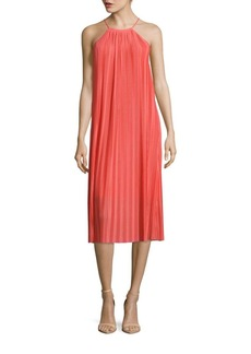 Cynthia Steffe Quinn Halterneck Pleated Dress