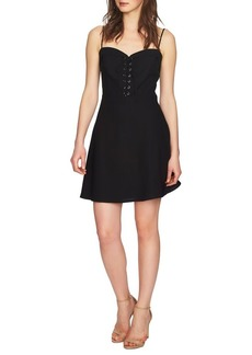 Cynthia Steffe Robin Lace-Up Fit-and-Flare Dress