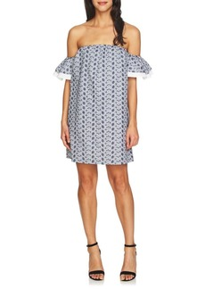 Cynthia Steffe Rosana Off-the-Shoulder Embroidered Cotton Dress