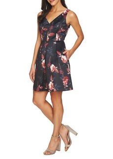 Cynthia Steffe Rose Pleated Fit-&-Flare Dress