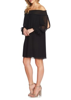 Cynthia Steffe Shiloh Off-The-Shoulder Smocked Shift Dress
