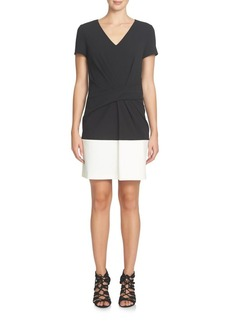 Cynthia Steffe Short-Sleeve Colorblocked Sheath Dress