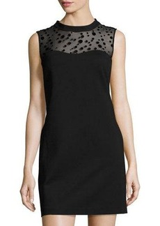 Cynthia Steffe Sleeveless Illusion-Yoke Shift Dress