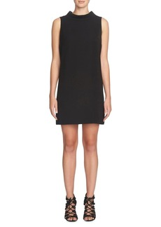 Cynthia Steffe Solid Mock Neck Shift Dress