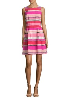 Cynthia Steffe Stripes Pleated Dress