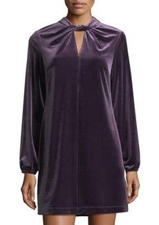 Cynthia Steffe Taylor Twist-Neck Velvet Dress