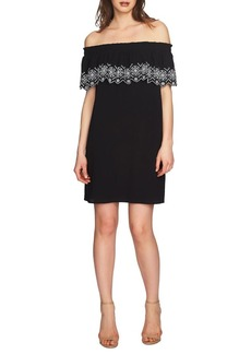 Cynthia Steffe Tenley Embroidered Off-The-Shoulder Dress