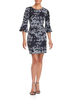 Cynthia Steffe Three-Fourth Sleeve Floral Dress