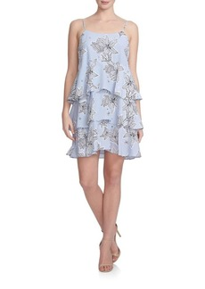 Cynthia Steffe Tiered Floral Dress