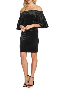 Cynthia Steffe Velvet Off-the-Shoulder Bodycon Dress