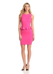 Cynthia Steffe Women's Brooke Peplum Lace Detail Dress