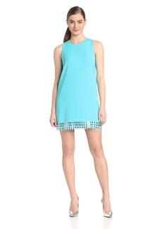 Cynthia Steffe Women's Hartley Embellished Hem Shift Dress