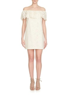 Cynthia Steffe Liliana Off-The-Shoulder Eyelet Dress