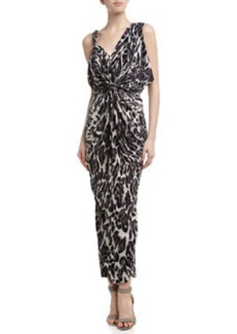 T-Bags T Bags Leopard Print Twisted Maxi Dress