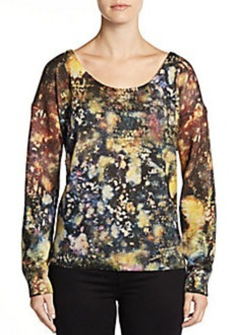 Catherine Malandrino Grace Abstract-Print Wool/Cashmere Sweater
