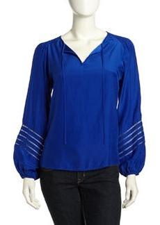Go Silk Flowy Silk Tunic, Cobalt