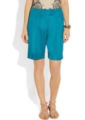 Etro Satin-twill shorts