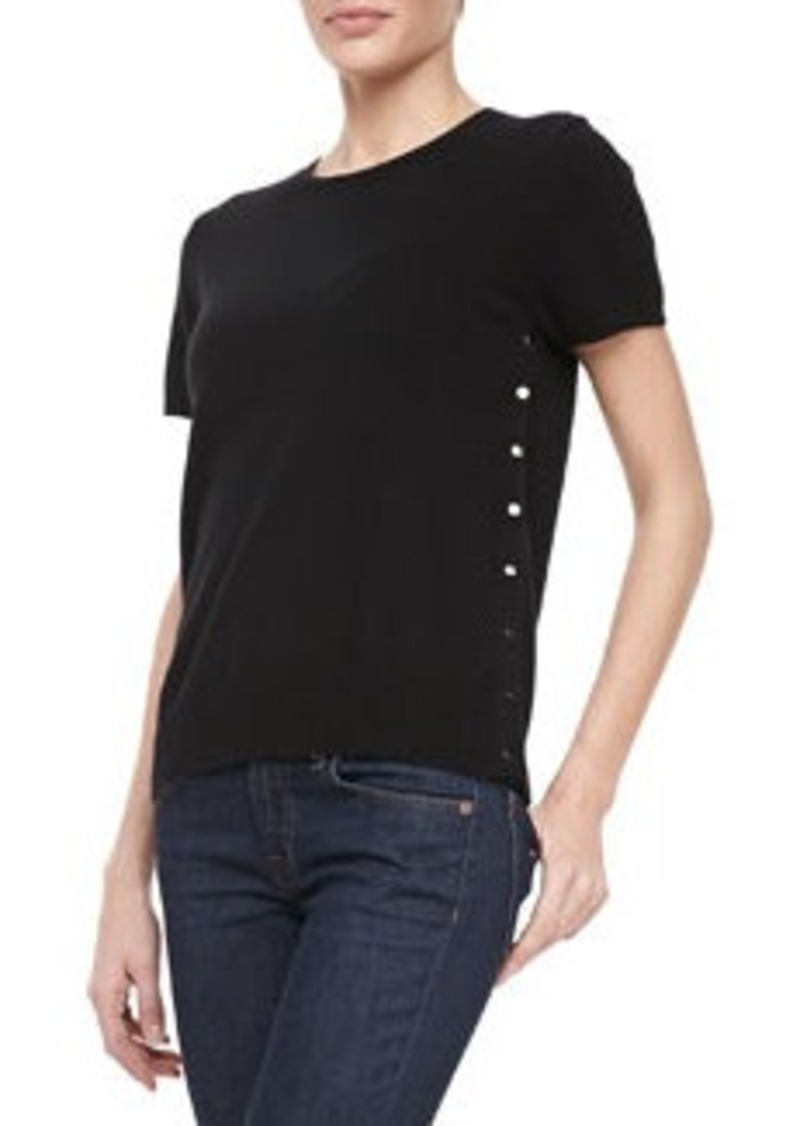 J Brand Shields Button-Side Sweater Tee   Shields Button-Side Sweater Tee