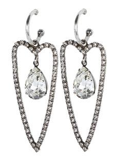Dannijo Alice Crystal Heart Earrings