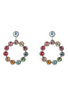 Dannijo Bella Crystal Drop Hoop Earrings