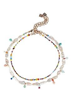 Dannijo Bondi Bead Pearl Layered Necklace