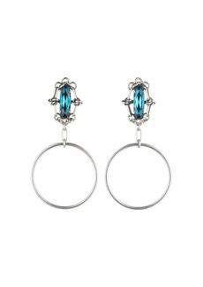 Dannijo Adelaide Blue Zircon Hoop Earrings
