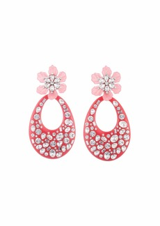Dannijo Blossom Crystal Flower & Teardrop Earrings