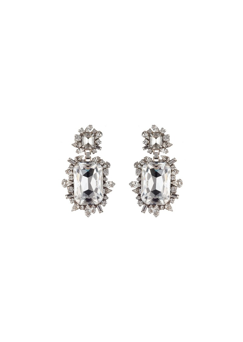 Dannijo Crawford Crystal Drop Earrings