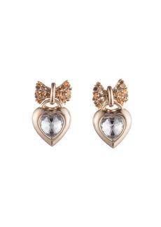Dannijo Elora Crystal Heart Drop Earrings