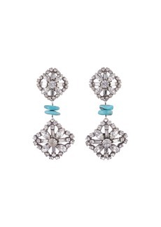Dannijo Jaws Crystal & Malachite Drop Earrings