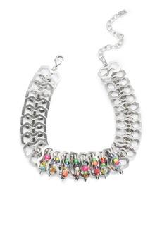 Dannijo Kamali Beaded Safety Pin Necklace