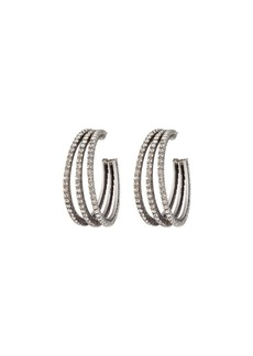 Dannijo Lani Crystal Hoop Earrings