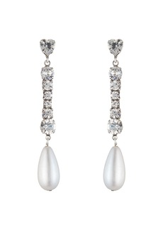 Dannijo Rita Crystal & Pearly Drop Earrings