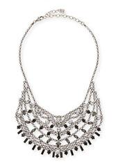 Dannijo Steinem Jet Crystal Bib Necklace
