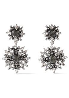 Dannijo Woman Alby Silver And Gunmetal-tone Crystal Earrings Silver