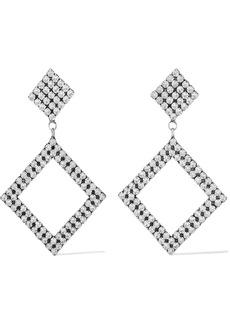 Dannijo Woman Beta Oxidized Silver-plated Crystal Earrings Silver
