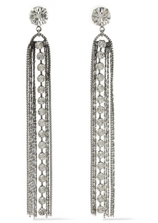 Dannijo Woman Burnished Silver-tone Crystal Earrings Silver